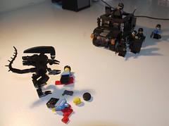 Lego Alien attack (littlebricker) Tags: soldier lego alien police humvee swat minifigure