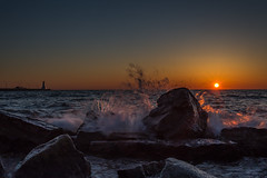 Sunrise Splash (hey its k) Tags: ca sky ontario canada sunrise canal hamilton splash lakeontario hfg img9823 canon6d