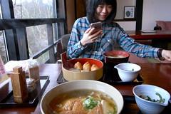 udon and inari (troutfactory) Tags: japan digital lunch restaurant udon    kansai  yoshino inarisushi  mountyoshino ricohgrd2 yoshinomountain