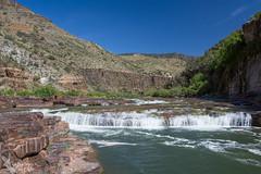 Apache Falls on the Salt River (Squirrel Girl cbk) Tags: arizona water waterfall april geology saltriver 2016 diabasesill apachefalls apachegroup drippingspringsquartzite
