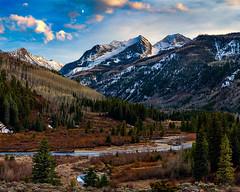Lunar Marble Valley (Paul Gana) Tags: sunset usa moon mountains canon rockies evening colorado marble aspen crestedbutte canonllens westelk elkmountains canon5dmkii