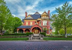 Gargoyle House - Atchison KS (Jonathan Tasler) Tags: house spring victorian kansas atchison brickroad gargoylehouse