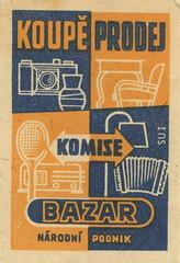 czechoslovakian matchbox label (maraid) Tags: camera czech label goods packaging household bazar matchbox czechoslovakia czechoslovakian