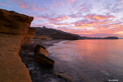 sunset colors (jopas2800) Tags: sunset sea rock clouds mediterrneo nikond610