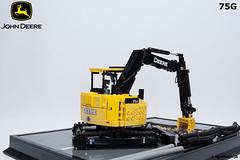 04_John_Deere_75G (LegoMathijs) Tags: road scale yellow john chains team model lego display technic dozer blade snot deere compact excavator moc 75g foitsop decalls legomathijs