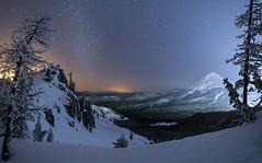Mt Hood winterview (Ben_Coffman) Tags: winter snow mirrorlake mthood snowytrees lightpollution snowcoveredtrees mthoodnationalforest mthoodsnow bencoffman mthoodwinter bencoffmanphotography portlandlightpollution