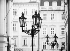 Prague Gas Lamps (holtelars) Tags: blackandwhite bw 120 film monochrome rollei analog mediumformat 645 prague pentax praha czechrepublic analogue 6x45 oldtown f40 czechia 200mm 100iso pentax645 filmphotography rodinalspecial gaslamps classicblackwhite 645n rpx homeprocessing filmforever smcpentaxfa r09spezial rpx100 rolleirpx100 larsholte compardr09spezial