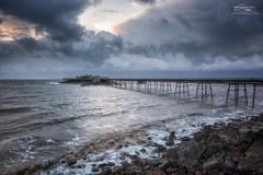 Before the rain came (Chris Sweet Photography) Tags: sea seascape water clouds coast pier rocks waves sigma coastal drama birnbeck