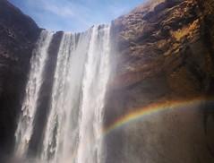 Skgafoss, Iceland (kruupfi) Tags: nature water island waterfall iceland rainbow skgafoss skogafoss