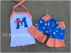 fish (Lil' Bug Clothing) Tags: girls fish outfit top short halter