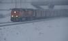 B.N.S.F grain train in the snow.  Montana (montanatom1950) Tags: winter snow train montana trains helena bnsf helenamontana