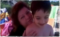 Me and my son (La Baroque ( Laura )) Tags: sea summer laura beach me italia mare estate son puglia spiaggia filippo vieste gargano peschici