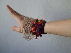 freeform crochet bracelet with colorful beaded flowers and cream crochet lace (irregular expressions) Tags: wearableart fiberart textileart seedbeads beadcrochet freeformcrochet delicabeads crochetbracelet beadedcrochet beadedbracelet crochetart beadedcuff beadedlace irregularexpressions crochetcuff statementbracelet statementjewelry statementcuff colorfulbeadedbracelet beadedcrochetbracelet freeformcrochetbracelet colorfulcuffbracelet