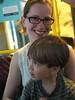 Mommy with train skeptic (chad_k) Tags: oslo norway train metro libby streetcar ingram tbane tbanen tunnelbane