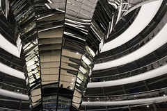 Lines and Curves (Francesco Moccia) Tags: reflection berlin glass lines night germany mirror steel curves reichstag francesco 10faves moccia
