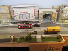 A small park.... (kingsway john) Tags: cinema london scale buildings layout model transport models tram card kits oo gauge tramway odeon diorama kingsway 176 oogauge