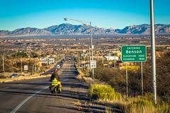 Entering Benson, Arizona.