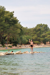 Croatia. The beaches of Rovinj (vs1k. 1 000 000 visits, Thanks so much !) Tags: family sea croatia adriatic