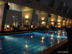 Roof Top Bar & swimming Pool - Traders Hotel - Kuala Lumpue Malaysia (WanderingPhotosPJB) Tags: rooftop bar night lights swimmingpool malaysia kualalumpur kl img traders tradershotel