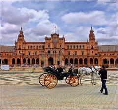 (2212) Plaza de Espaa de Sevilla (QuimG) Tags: architecture landscape sevilla andaluca spain arquitectura sony paisaje paisatge specialtouch quimg plazadeespaadesevilla quimgranell joaquimgranell afcastell obresdart
