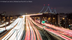Triborough Bridge and Astoria Blvd (P1092357) (Michael.Lee.Pics.NYC) Tags: longexposure newyork night highway boulevard olympus queens astoria mkii markii lighttrail triboroughbridge i278 traffictrail em5 rfkbridge livecomposite voigtlandernoktonclassic35mmsc14