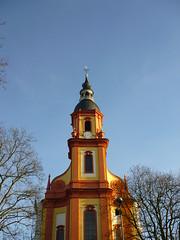 Kirchturm St. Paulin (Jrg Paul Kaspari) Tags: tower church turm barock trier februar 2016 kirchturm stpaulin barockkirche vorfrhling paulinviertel