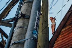 Jesus Christ Hanging From Telephone Pole (AdamCohn) Tags: philippines cebu cebucity crucifixion jesuschrist adamcohn wwwadamcohncom