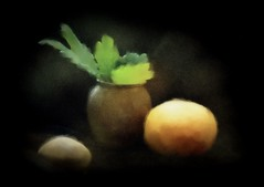 Art class project - trying for wabi (edenseekr) Tags: gourds photopainting stilllifecomposition