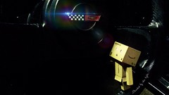 Blinded by the Light (karmenbizet73) Tags: art toys photography toystory corvette stickshift eyespy danbo blindedbythelight amateurphotographer 22366 danboard photodevelopment danbolove toysunderthebed mamathatswherethefunis 2016366photos
