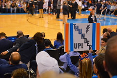 Thunder Up! (radargeek) Tags: thunder okc oklahoma oklahomacity nba thunderokc timberwolves basketball sports kid girl sign