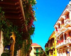 Charming Cartagena's old town is a Unesco World Heritage Site (+5) (peggyhr) Tags: flowers sunlight historic balconies colourful oldtown peggyhr level1photographyforrecreation thelooklevel1red myhatsofftoyou scapes