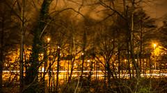 windy night (Andreas Pappas) Tags: road uk trees house tree car lights wind leicestershire unitedkingdom united kingdom loughborough