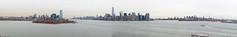 New York Panorama (Jeremy Brooks) Tags: panorama usa newyork water skyline buildings boats cityscape manhattan libertyisland newyorkcounty camera:make=canon camera:model=5dmarkii