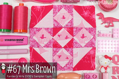 gnomeangel-farmers-wife-1930-block-67-mrs-brown (gnomeangel) Tags: modern quilt quilting patchwork tutorial farmerswife fussycutting gnomeangel fussycuttersclub farmerswife1930