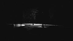 nuit... noir (2) (Ange 29) Tags: trees light bw snow canada window night yard nokia king flurries blinds 1020 township lumia