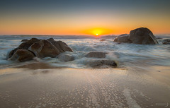 The End of The Day (Bryn De Kocks) Tags: ocean africa sunset sun seascape beach water landscape southafrica rocks waterscape westerncape sigma1020mm kogelbay canon70d