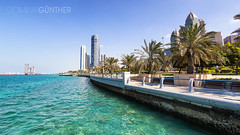 Corniche, Abu Dhabi (domingo_95) Tags: city travel sea vacation travelling tourism skyline canon coast holidays cityscape gulf united capital uae sightseeing shoreline tourist emirates arab corniche arabian abu dhabi tamron 1024 60d