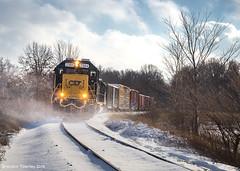 CSX Through Drifting Snow (Brandon Townley) Tags: railroad ohio snow cold wind snowdrift trains marion csx