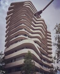 Marco Polo Tower by Behnisch Architekten, Hafencity, Hamburg (Michael Goldrei (microsketch)) Tags: building tower architecture modern concrete hamburg marco polo hafencity iphone behnisch architekten 2015 iphonography