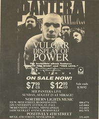 08/23/92 Pantera @ Mirage, Minneapolis, MN (Vulgar Display of Power Ad) (NYCDreamin) Tags: mirage pantera minneapolismn vulgardisplayofpower 082392