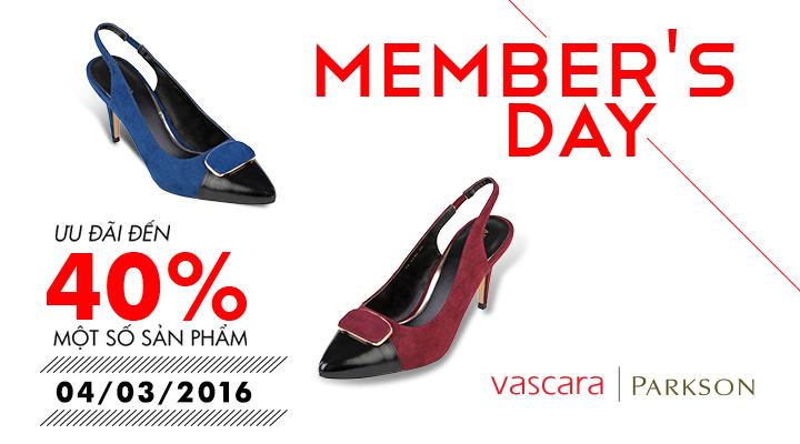 Vascara - Parkson - Member's Day - Ưu đãi đến 40% một số sản phẩm