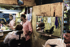 The barbers (Mike Foo) Tags: street travel people india reflection men canon asian mirror asia artistic candid indian streetphotography barber bombay mumbai southasia candidphotography travelphotography incredibleindia passionphotography unlimitedphotos canon5dmark3