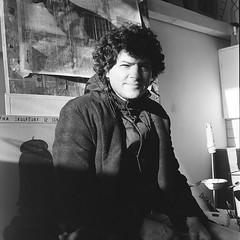 (arthur shuraev) Tags: portrait 120 film artist russia moscow sasha 2014    yashica124g   povzner
