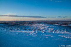 Winterwonderland in Lapland / Arvidsjaur, Sweden (Niels Photography) Tags: travel winter sky mountain snow mountains cold nature beautiful sunrise canon circle landscape photography view sweden hill north freezing swedish hills valley lapland polar northern viewpoint province niels winterwonderland overview arvidsjaur arjeplog