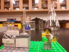 chemist in teaching lab (rikomatic) Tags: california museum stem legos minifigs chemist paleontologist astrophysicist womeninscience