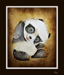 Panda (patrick.verstappen) Tags: winter art animal watercolor painting photo yahoo google nikon panda flickr pat sigma nut februar facebook picassa gingelom ipernity d7100 pinterest ipiccy