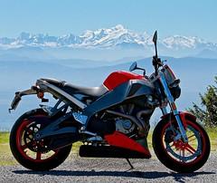 Buell XB12 (souvaroff) Tags: red white mountain snow beautiful bike day mont blanc buell xb12