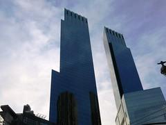 Saturday Colours - Postcard from New York (Pushapoze - sciatica) Tags: newyorkcity skyline clouds skyscrapers columbuscircle timewarnercenter