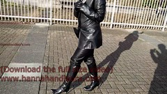 girl in leather jacket, gloves, boots, pants (girl leather pants) Tags: girl leather pants boots jacket gloves girlinleatherjacket