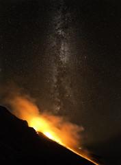 Stromboli rework (Jaims Gibson APSNZ) Tags: italy panorama stars volcano stromboli milkyway ptgui jamesgibsonphotography